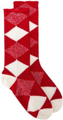 Burberry diamond check socks