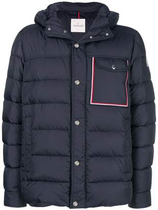 Moncler tri-colour trim padded jacket