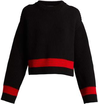 Alexander McQueen Wool and cashmere-blend striped sweater