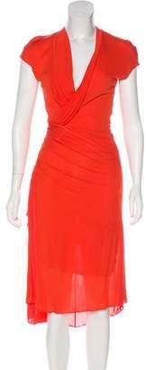 Narciso Rodriguez Draped Midi Dress