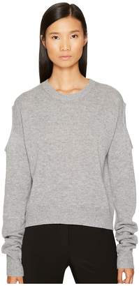 McQ Cut Out Crew Neck Women's Clothing