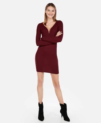 Express Cozy Ribbed V-Wire Dress