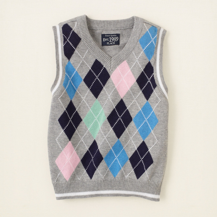 Children's Place Argyle vest