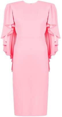 Alex Perry ruffled sleeves fitted dress