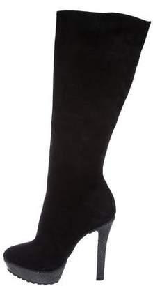 Alexandre Birman Stingray-Trimmed Knee-High Boots