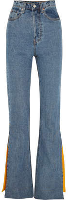SOLACE London Hettie High-rise Flared Jeans - Mid denim
