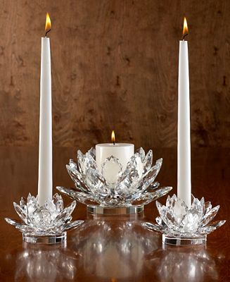Godinger Shannon Candle Holders, Lotus Collection