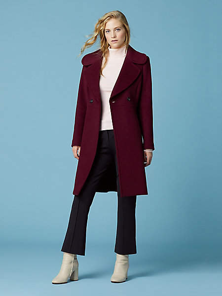 Collared Belted Trench