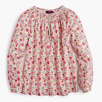 J.Crew Petite peasant top in Liberty® D'Anjo floral