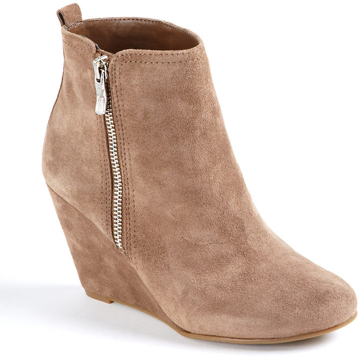 BCBGENERATION Weslee Suede Wedge Ankle Boots