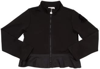 Moncler Acetate Jersey & Nylon Detail Sweatshirt