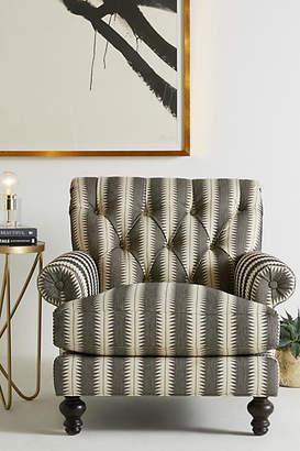 Anthropologie Suren-Striped Fan Pleat Chair
