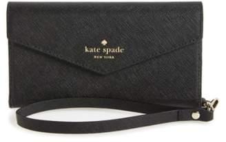 Kate Spade iPhone 7/8 & 7/8 Plus leather wristlet
