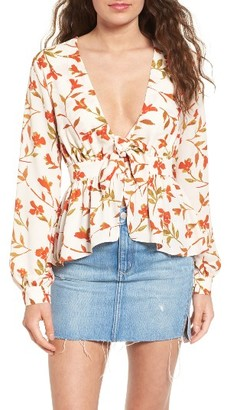 Women's Lovers & Friends Hermosa Floral Print Blouse $138 thestylecure.com