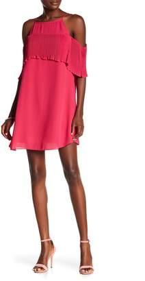 Rachel Roy Pleated Cold Shoulder Dress
