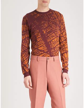 John Smedley Sagan two-tone jacquard wool jumper