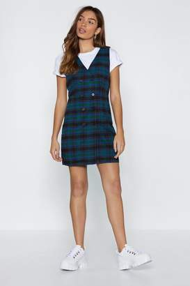 Nasty Gal Plaid to Hear It Double Breasted Dress