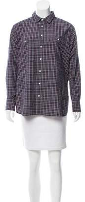 Rag & Bone Tartan Button-Up Top