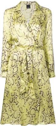 Pinko snake print wrap dress