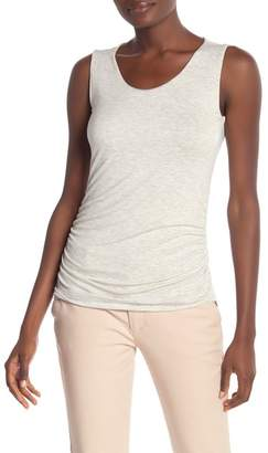 Kinross Solid Ruched Hi-Lo Tank Top