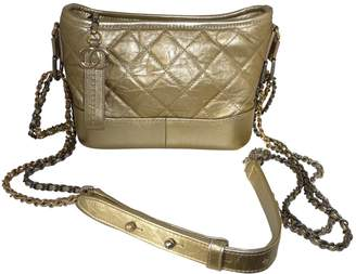 Chanel Gabrielle Gold Leather Handbag