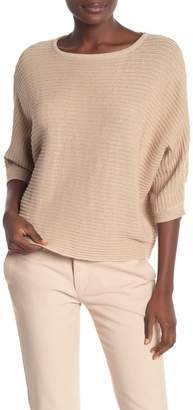 Kinross Textured Short Dolman Sleeve Sweater