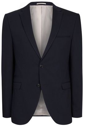 SELECTED HOMME Navy Textured Blazer $220 thestylecure.com