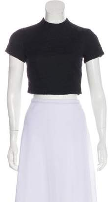 Alice + Olivia Textured Crop Top