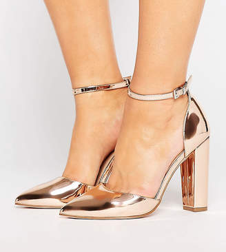 Asos DESIGN PENALTY Wide Fit Pointed Heels