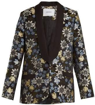 Erdem - Anisha Floral Jacquard Jacket - Womens - Black Multi