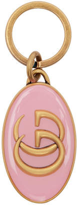 Gucci Pink and Gold GG Keychain