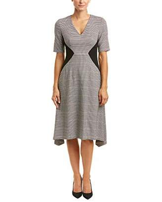 Donna Morgan Women's V-Neck Fit and Flare Dress