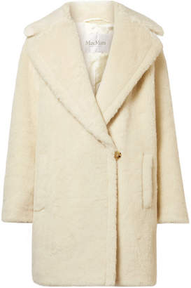 Max Mara Robinia Alpaca, Wool And Silk-blend Coat - Ivory