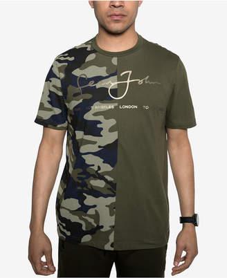 Sean John Men's Split Camo T-Shirt