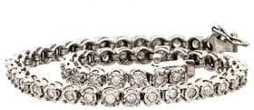 Lord & Taylor Diamond And Sterling Silver Tennis Bracelet, 1.0 TCW