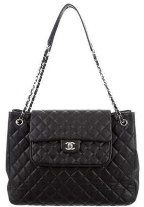 Chanel Large Caviar Flap Shopping Tote