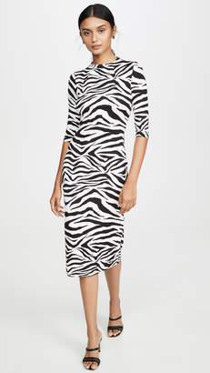 Alice + Olivia Delora Fitted Mockneck Dress