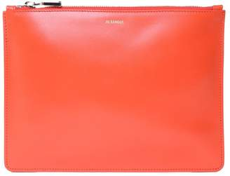 Jil Sander Envelope Md Smooth-leather Clutch