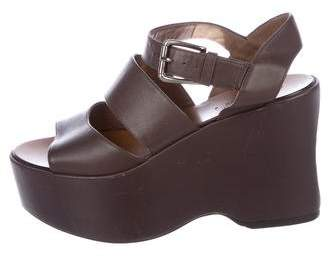 Marni Leather Wedge Sandals