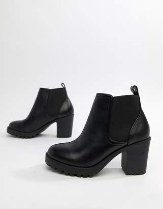 Office Chunky Heeled Chelsea Boots