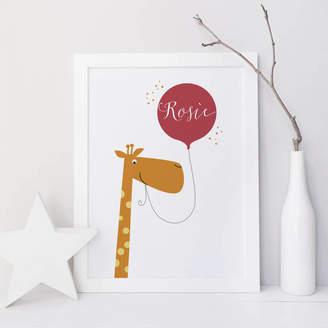 Wink Design Personalised Fun Giraffe Name Print Gift