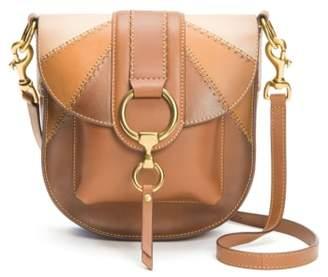 Frye Ilana Colorblock Leather Saddle Bag