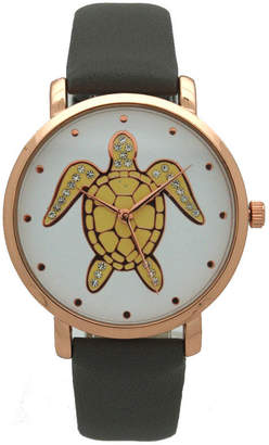 OLIVIA PRATT Olivia Pratt Pop Sea Turtle Womens Gray Strap Watch-A917404greyrose