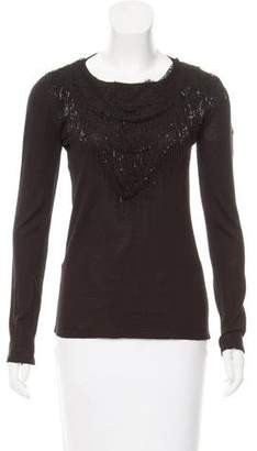 Jay Ahr Lace-Accented Wool Top w/ Tags