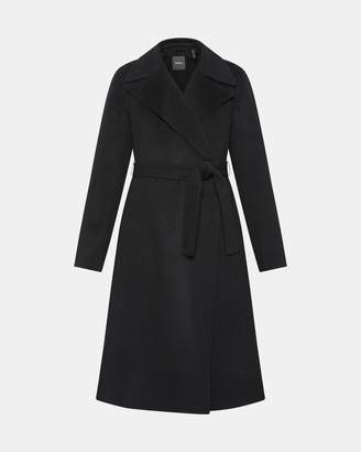 Theory Cashmere Wrap Trench