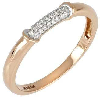 Bony Levy 18K Rose Gold Diamond Pave Band Ring - 0.08 ctw