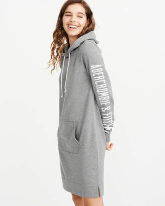 Abercrombie & Fitch Graphic Sweatshirt Hoodie Dress