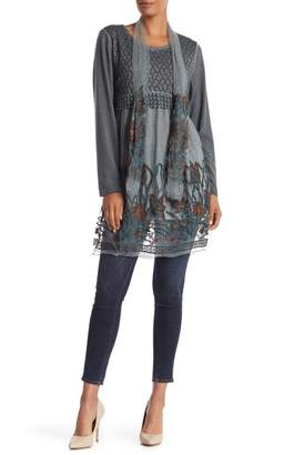Couture Simply Embroidered Scarf Tie Tunic