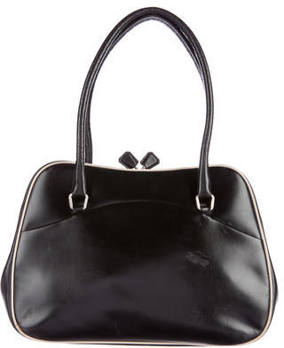 prada Prada Leather Frame Bag