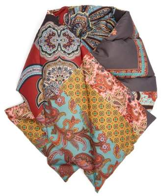 Etro Paisley Print Down Filled Scarf - Womens - Red
